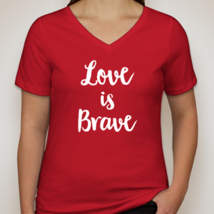 red love t shirt